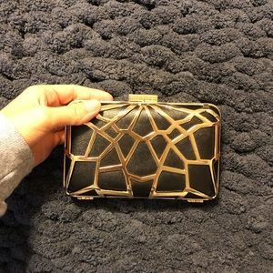 Black & gold beautiful clutch